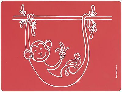 Modern Twist Meal Mat Monkey Business Red , Free Shipping