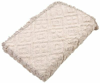 Stylemaster Diamond Tufted Chenille Bedspread King Ivory , Free Shipping