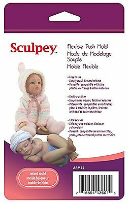 Sculpey APM72 Flexible Push Mold-Infant Doll , Free Shipping