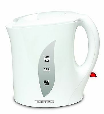 Toastess Electric Jug Kettle 1-Litre White , Free Shipping