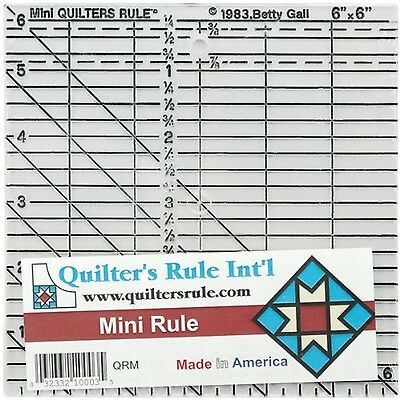 Quilter's Mini Ruler-6-Inch X 6-Inch New