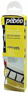 Pebeo Porcelaine 150 China Paint Discovery Collection of 6 Assorted 20-Mi... New
