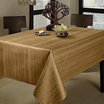 "Benson Mills Flow ""Spillproof"" 52-Inch by 70-Inch Fabric Tablecloth Taupe New"