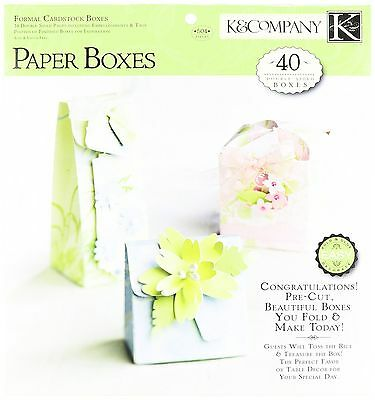 K and Company Paper Crafting Pad-Formal Cardstock Boxes New