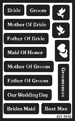 Armour Etch 21-1616 Over N Over Stencil Wedding New