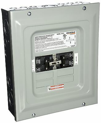 Generac 6333 60-Amp Single Load Double Pole Manual Transfer Switch for Po... New