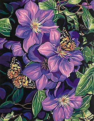 Dimensions Needlecrafts Paintworks Paint By Number Clematis and Butterflies New