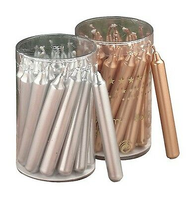 Biedermann & Sons 20 Gold Metallic Chime or Tree Candles New