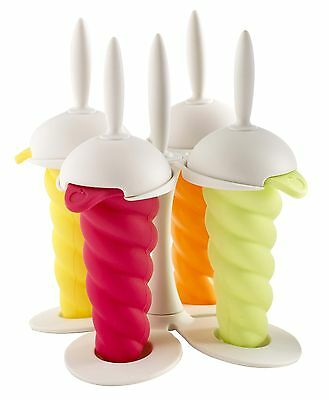 Mastrad A47221 Ice Pop Molds White Base New