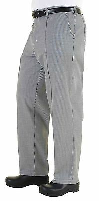 Chef Works BWCP-0 Black and White Check Traditional Chef Pants Size 34 New