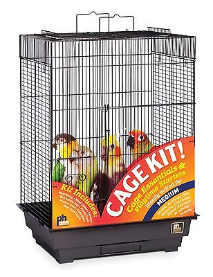 Prevue Hendryx Square Roof Bird Cage Kit Black New