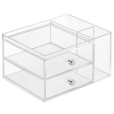 InterDesign Clarity Cosmetic Organizer for Vanity Cabinet to Hold Makeup ... New