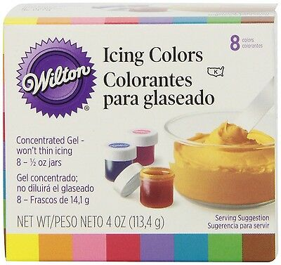 Wilton Set of 8 Icing Colors 1 New