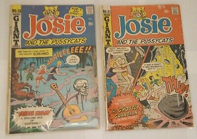 JOSIE AND THE PUSSYCATS #61 Archie comics GIANT 1972 Bronze Age Hanna Barbera