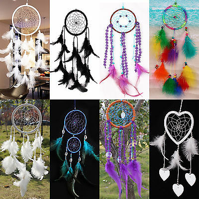 Newest Large Size Handmade Dream Catcher With Feathers Wall Hanging Ornament NEW