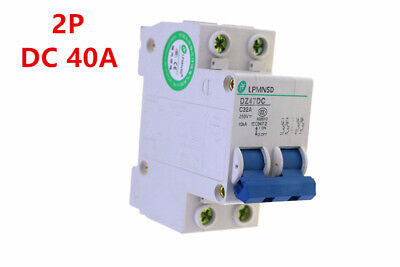 Solar Circuit breaker 2P 40A DC 250V  MCB  antiflame Air switch best qty
