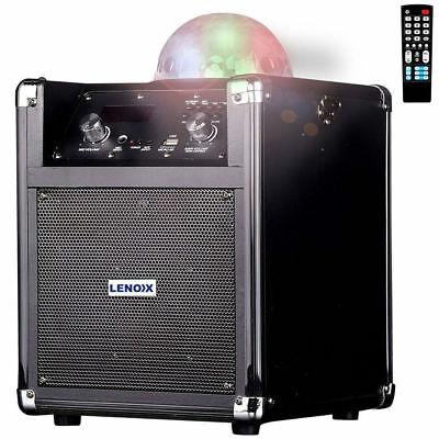 Rechargeable Portable Bluetooth Speaker/PA System/Flashing Lights/Aux/Mic In/FM