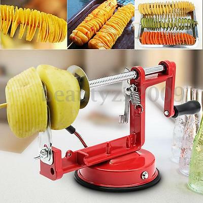 Manual Stainless Steel Twisted Potato Spiral Slicer French Fry Vegetable Cutter