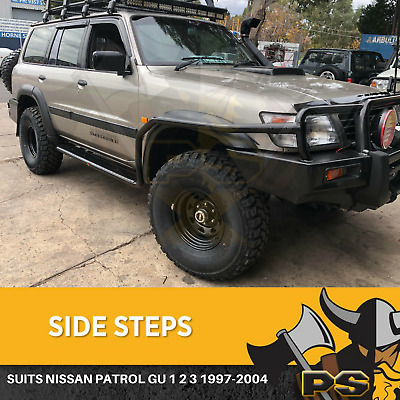 Nissan Gu Patrol Series 1 2 3 1997-2004 Heavy Duty Sidesteps + Bars Side Steps