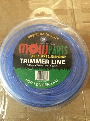 Whipper Snipper Trimmer Line 1.6mm X 90m Brand New Bulk Box 32 Rolls