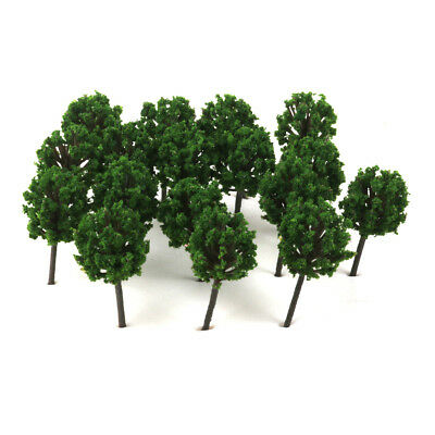 50 Green Tree Model Train Railway Diorama Wargame Garden Scenery 4cm Z Scale