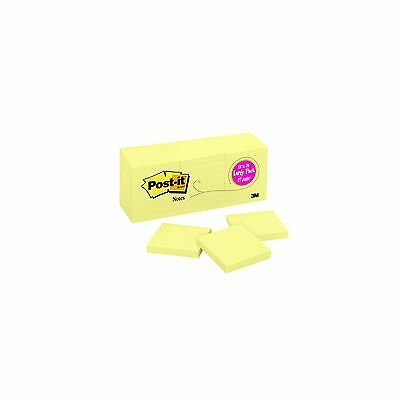 """Post-it Original Notes, 3"""" x 3"""", Canary Yellow, 27 Pads, 2700 Total Sheets  NEW"""
