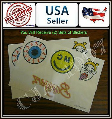 (2 sets ) MILEY CYRUS BANGERZ 2014 TOUR BODY STICKERS (4 stickers by Set)