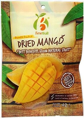Dried Mango Fruit Dehydrated Snacks Natural Thai Fruit Food Delicious New 42 g.