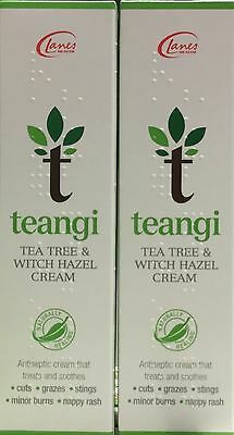 Lanes Tea Tree & Witch Hazel Cream 28g x2