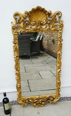 Early 19thc  Rococco style  giltwood  framed  wall or pier mirror,  VGC