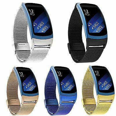 Luxury Milanese Stainless Steel Watch Band Wrist Strap For Samsung Gear Fit2