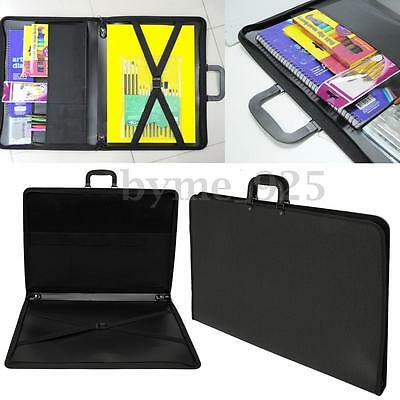 Portable Desig Portfolio WaterProof Art Painting  Drawing Tool Folder Size A2