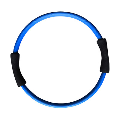 Pilates Ring Resistance Ring Double Handle Blue Toning Balance Training Fitness