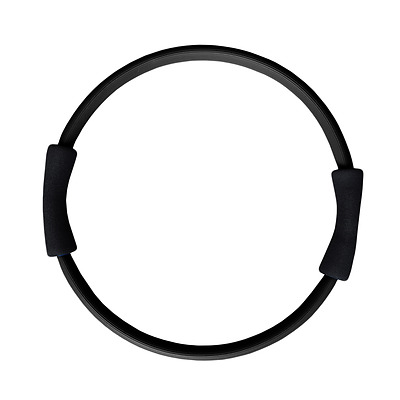 Pilates Toning Ring Circle Double Grip Black Muscle Exercises Toning