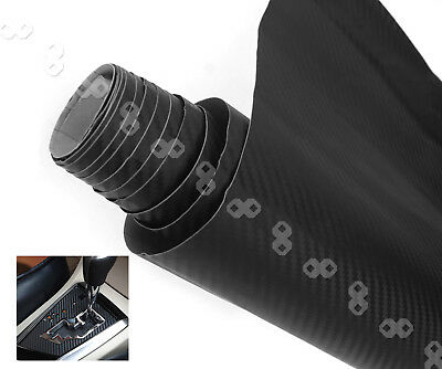 Black 60cm x 2m 3D Carbon Fiber Vinyl Wrap Roll Film AUTO Car Home Wallpaper