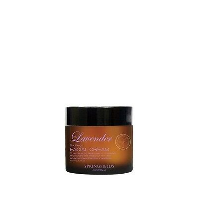 Springfields- Lavender Soothing Facial Cream - Both Sizes - All Natural + Sample