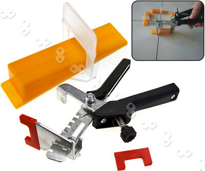 Large Tile Flooring Wall Leveling Spacer D Type System Wedges Pliers Tool Set