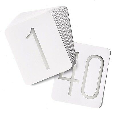 Hortense B. Hewitt Wedding Accessories Table Numbers 1 Through 40 Silver ... New