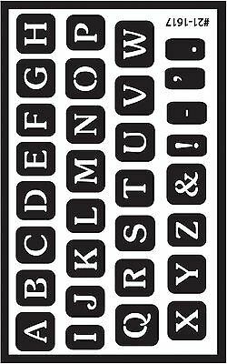 Armour Etch 21-1617 Over N Over Stencil Full Alphabet New