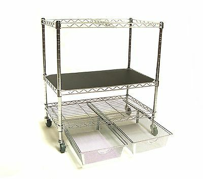 Seville Classics OFF42569 Chrome File Cart with Drawers New