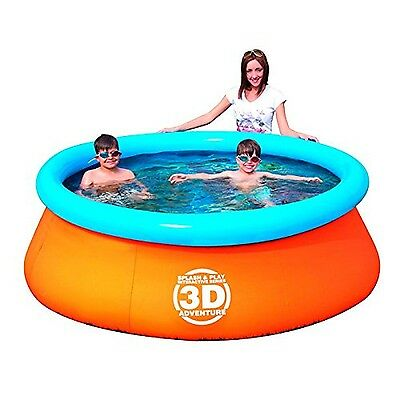 Splash & Play 3D Adventure 7-Feet Fast Set Family Pool New