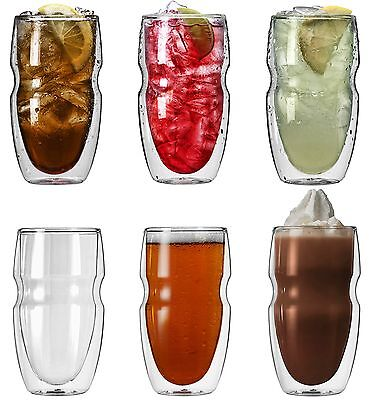 Ozeri Serafino Double Wall 16-Ounce Iced Tea and Coffee Glasses Set of 6 ... New