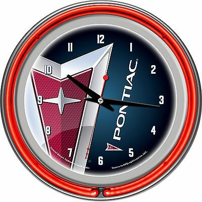Trademark Global Pontiac Double Ring Neon Clock New