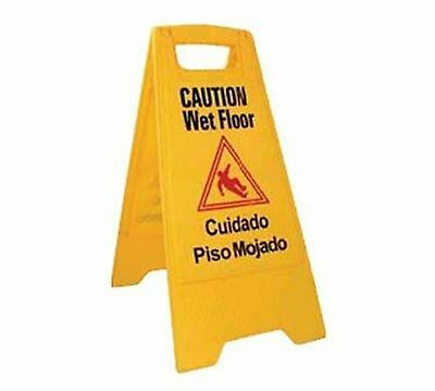 Winco WCS-25 2-Sided Wet Floor Caution Sign Yellow New