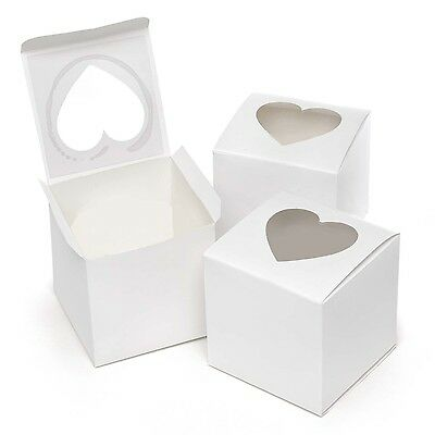 Hortense B. Hewitt Wedding Accessories Cupcake Favor Boxes with Heart Sha... New
