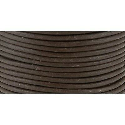 Leather Factory Round Leather Lace 2-Millimeter 25-Yard spool Brown New