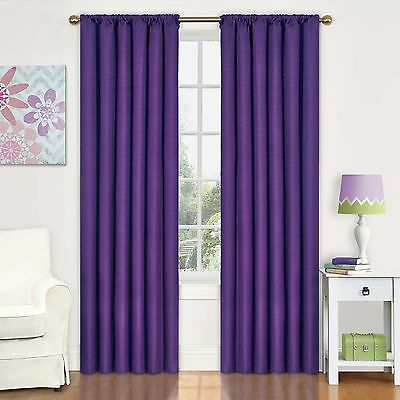 Eclipse 42-Inch by 84-Inch Kids Kendall Blackout Window Panel Purple New