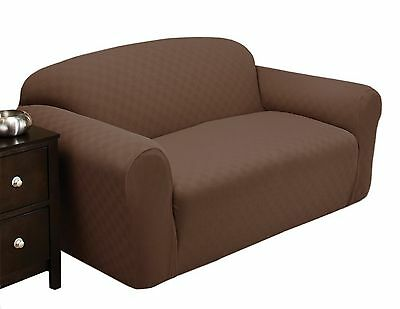 Stretch Sensations Newport Loveseat Slipcover Cocoa New