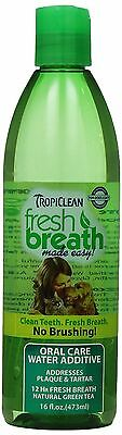 COSMOS Tropiclean Fresh Breath Plaque Remover Pet Water Additive 16-Ounce New