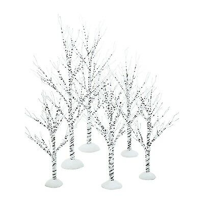 Department 56 Village Winter Birch Set of 6 Wrapped Wire New